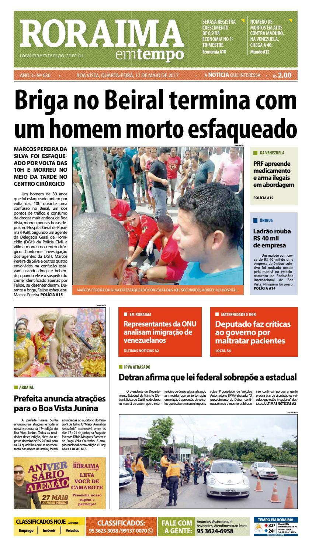 Jornal Roraima Em Tempo Edicao 630 By Roraimaemtempo Issuu