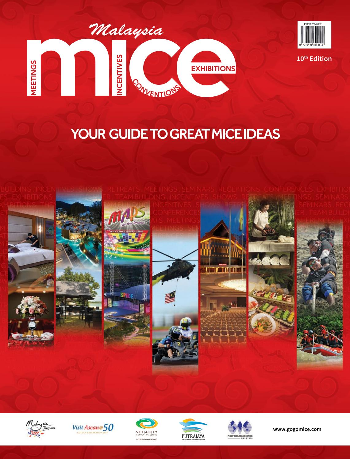 Malaysia Mice 2017 2018 10th Edition By Tourism Publications Vocer Belanja Di Garuda Golf Center Rp 4750000 Corporation Sdn Bhd Issuu