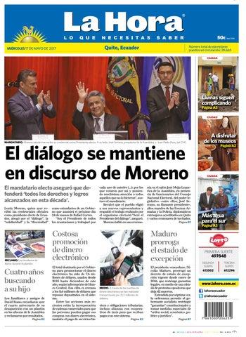 Quito 17 De Mayo De 2017 By Diario La Hora Ecuador Issuu