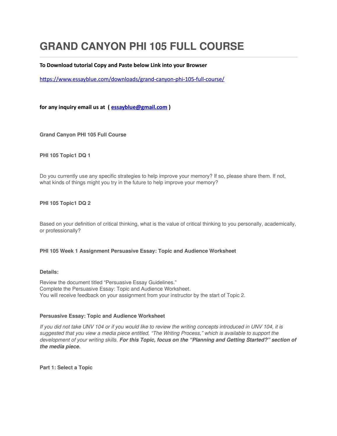 phi 105 persuasive letter View homework help - glendahollaway_persuasiveessaytopicworksheet from  phi 105 at grand canyon university name: glenda hollaway topic 1:.