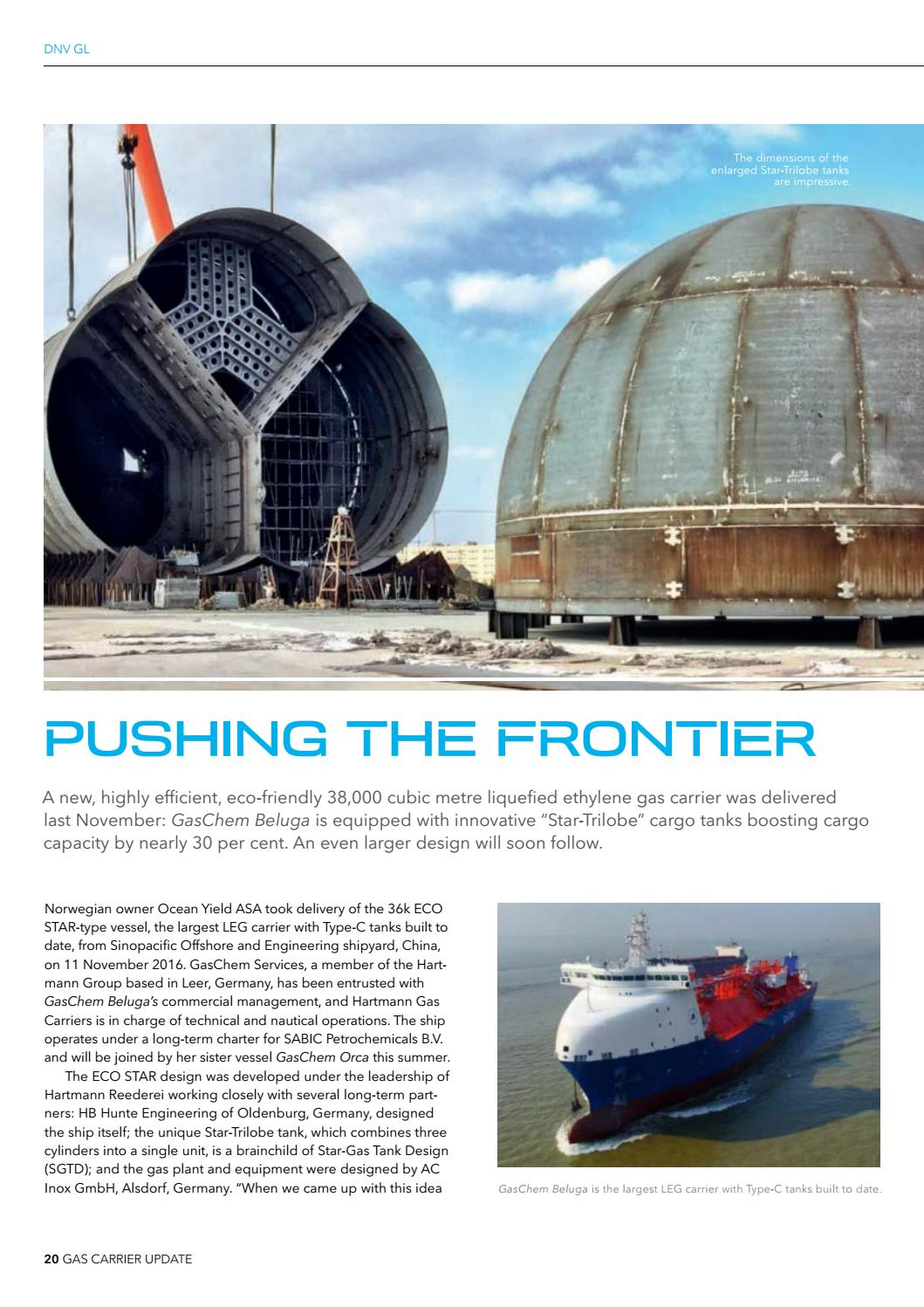 Largest Cargo Ship >> DNV GL Gas Carrier Update issue 2017 by DNV GL - Issuu
