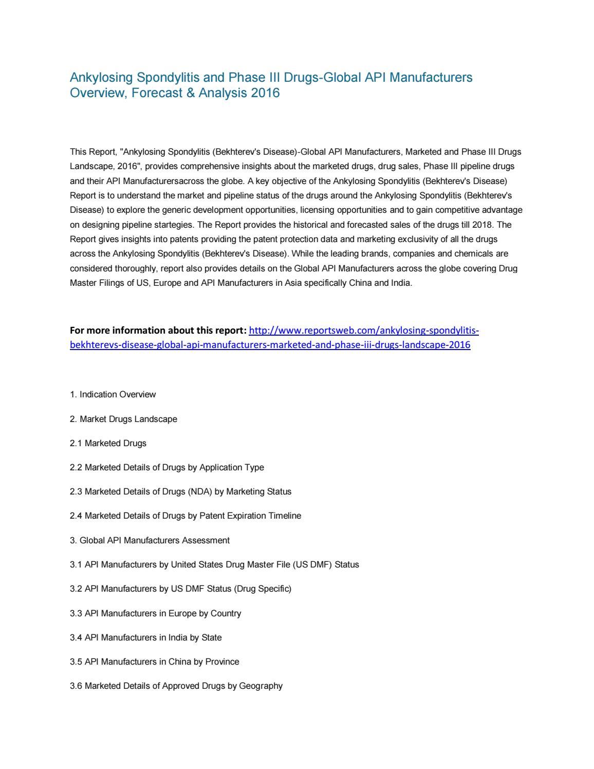 global ankylosing spondylitis market