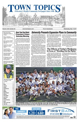 Town Topics Newspaper May 17, 2017 by Witherspoon Media