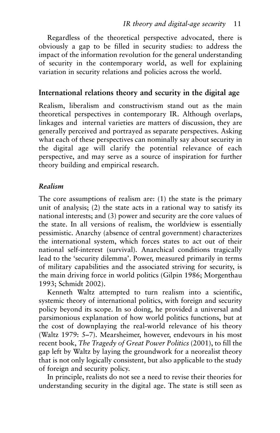 International Relations and Security in the Digital Age by