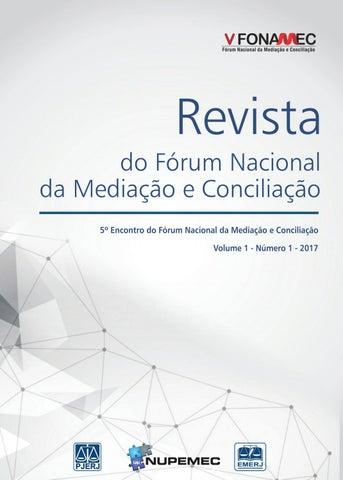 Revista do Fórum Nacional da Mediação e Conciliação - v. 1 - n.1 ... cb98630a0ea16