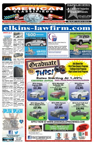San angelo american classifieds 051817 by san angelo american page 1 fandeluxe Choice Image