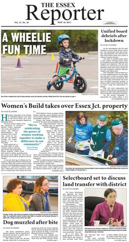May 18, 2017 The Essex Reporter by Essex Reporter - issuu