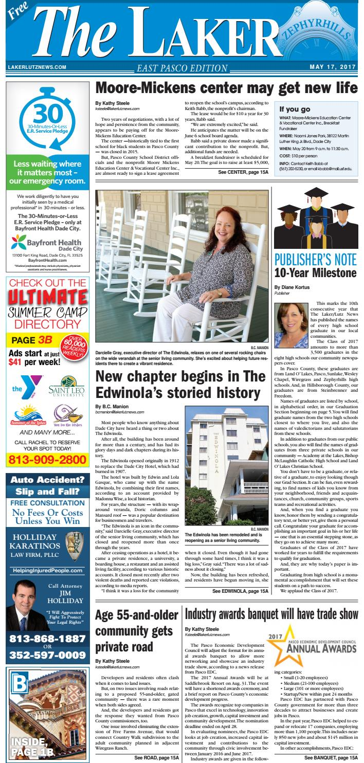 The Laker-East Pasco-May 17, 2017 by LakerLutzNews - issuu
