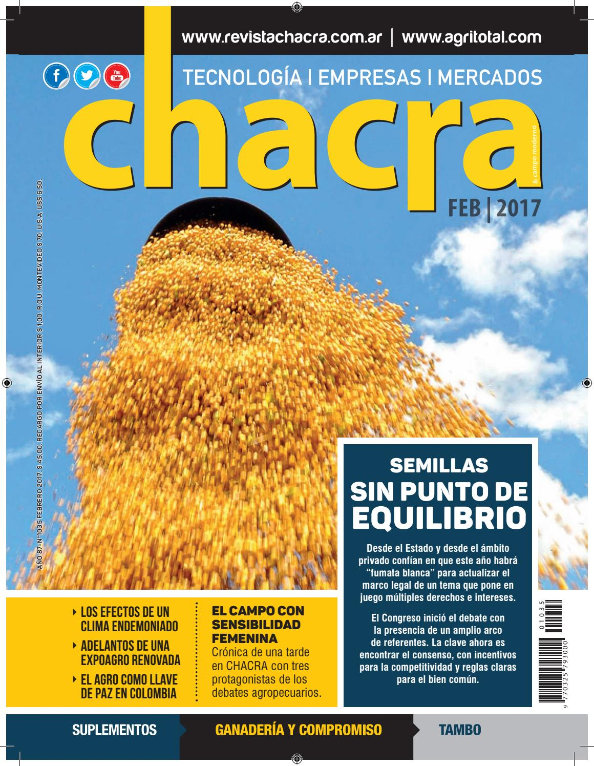 save off ac870 afd26 Revista Chacra Nº 1035 - Febrero 2017 by Revista Chacra - issuu
