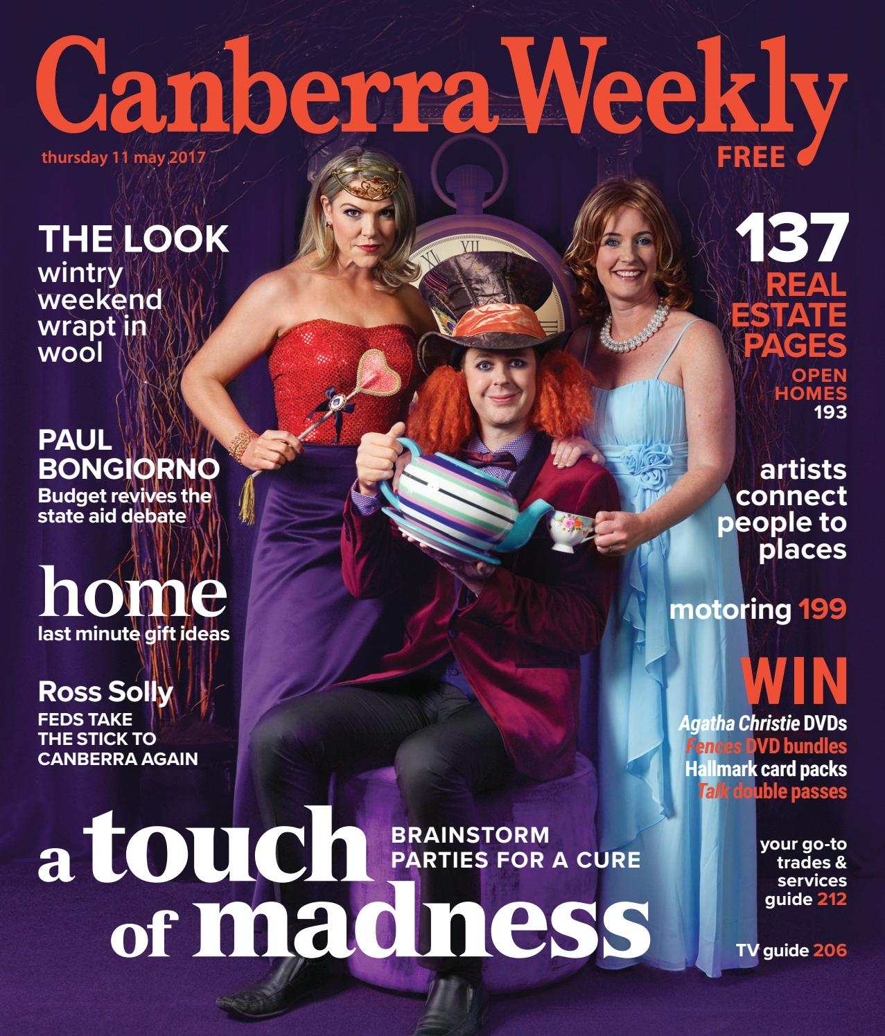 11 May 2017 By Canberra Weekly Magazine Issuu Dvd R Maxell 55 Bull Pack