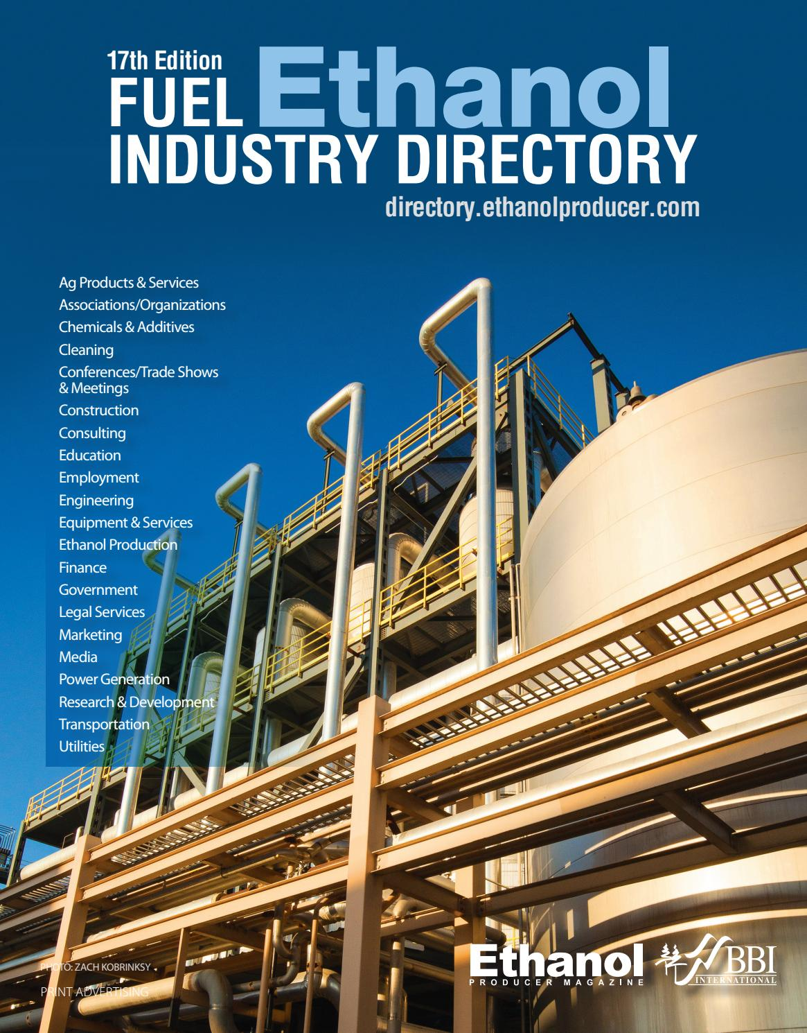 Fuel Ethanol Industry Directory - 2017 - (17th Edition) by