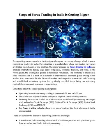 Forex market brokers in india