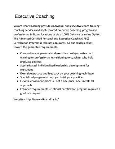2 executive coaching by vikramdhar - issuu