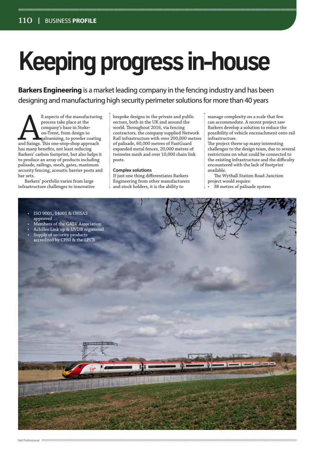 Rail Professional May 2017 By Rail Professional Magazine Issuu