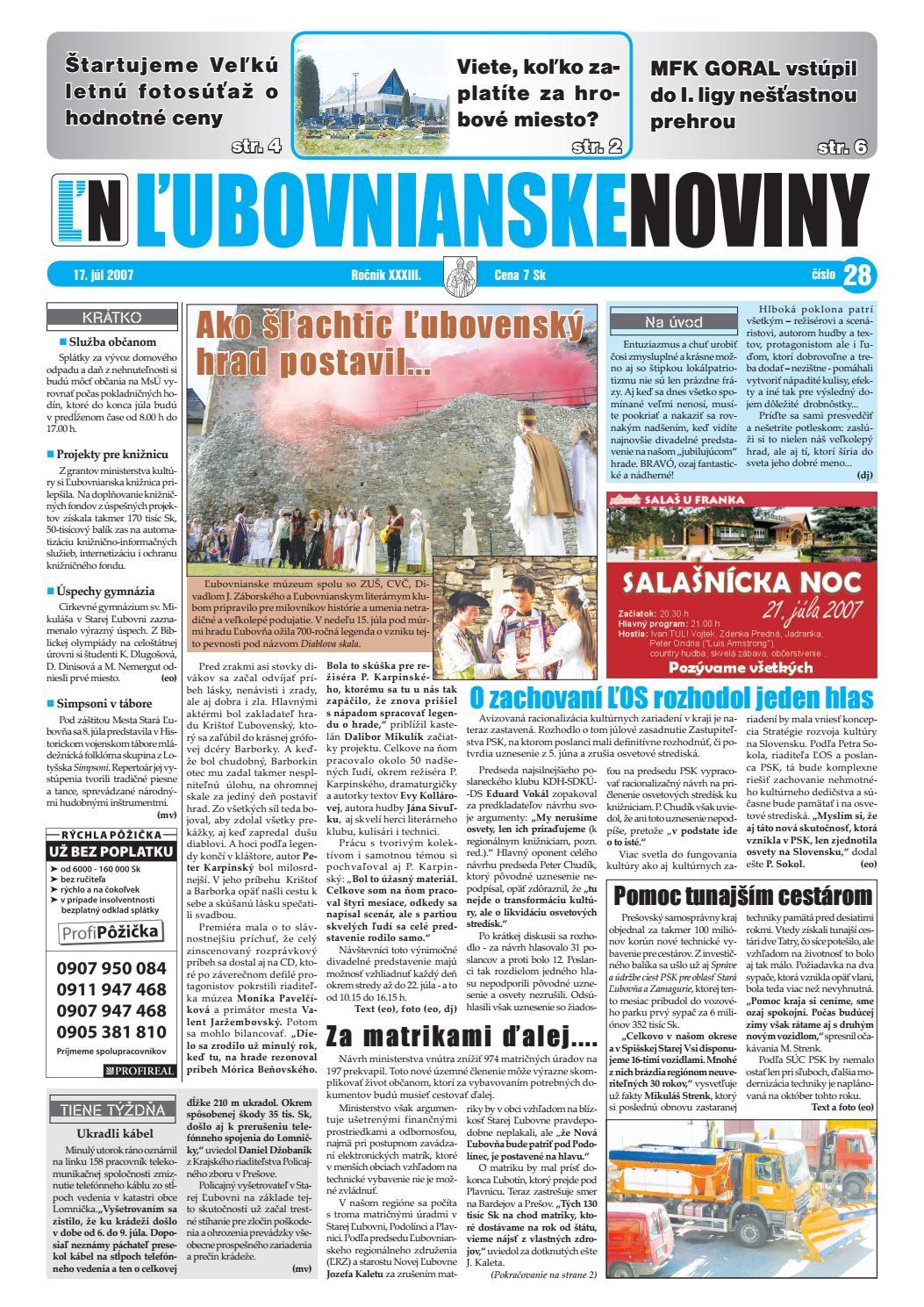 99ac7ea58 28 2006 by Lubovnianske.noviny - issuu