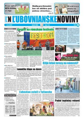 0bc140f048e3e 29 2007 by Lubovnianske.noviny - issuu