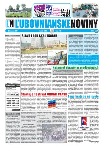 32 2007 by Lubovnianske.noviny - issuu cc01b51271