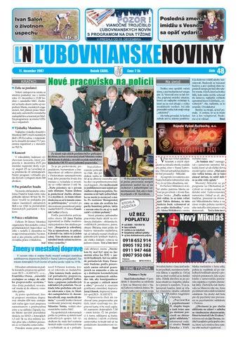 345e2df223b65 48 2007 by Lubovnianske.noviny - issuu