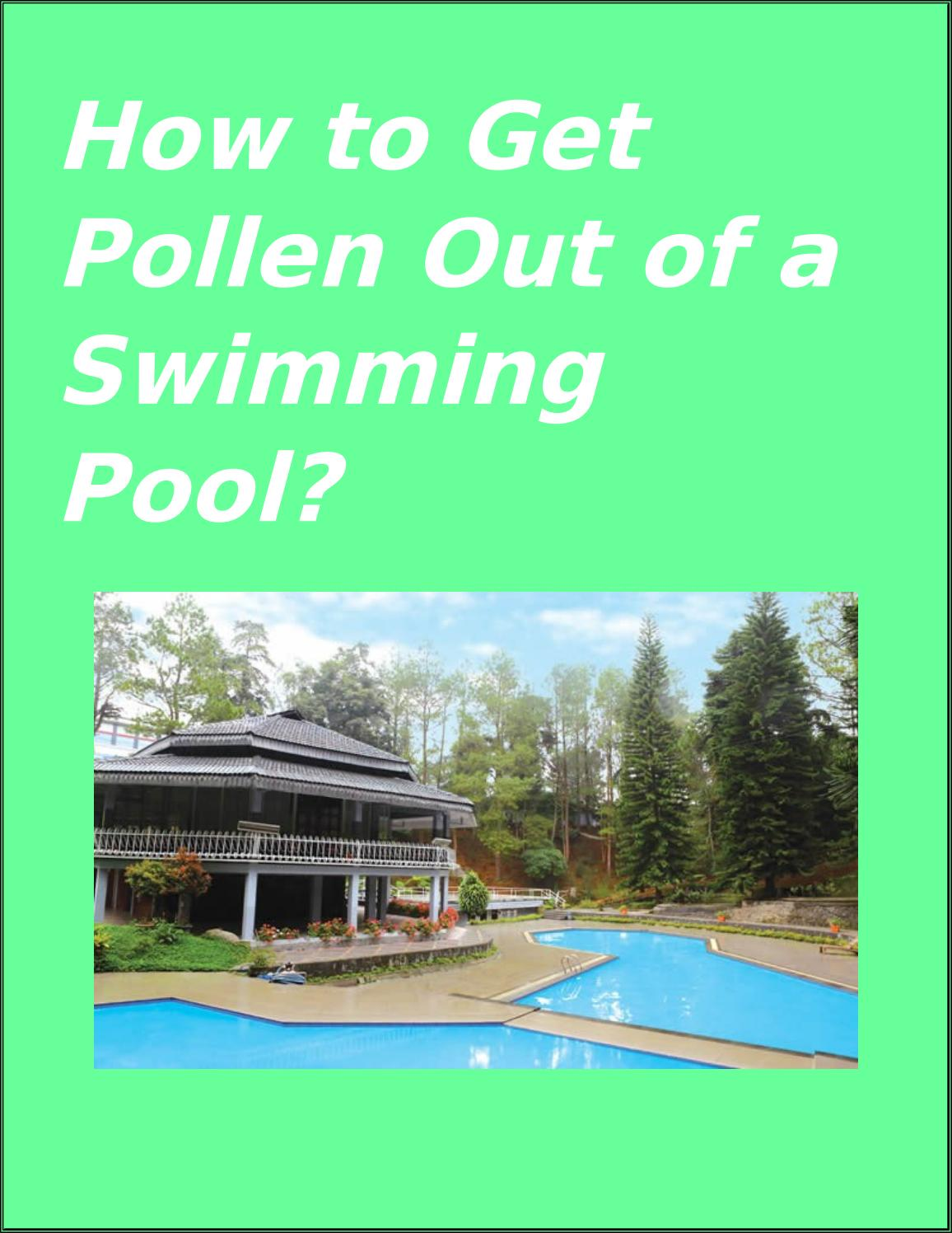 How To Get pollen out Of A Swimming pool By USA Management