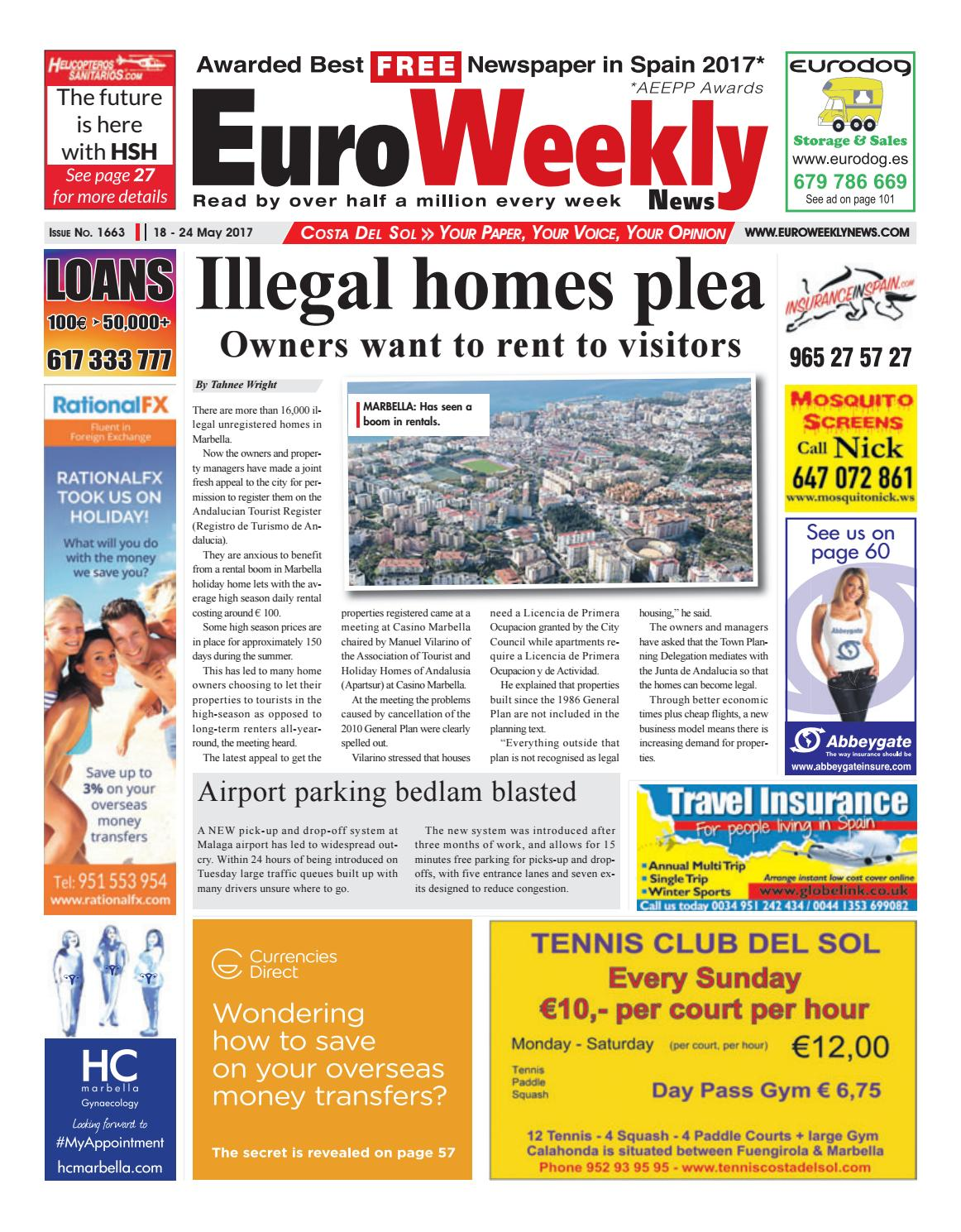 Euro weekly news costa del sol 18 24 may 2017 issue 1663 by euro euro weekly news costa del sol 18 24 may 2017 issue 1663 by euro weekly news media sa issuu fandeluxe Image collections