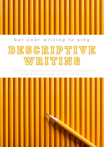 descriptive writing by gracie issuu descriptive writing