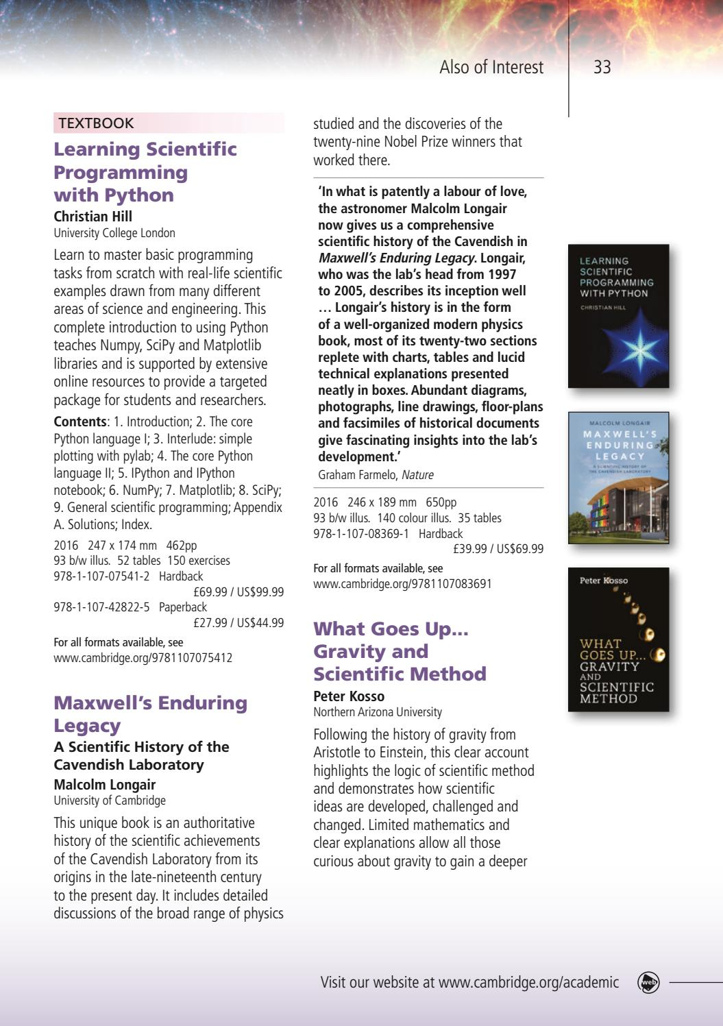 Astronomy, Astrophysics & Planetary Science 2017 by