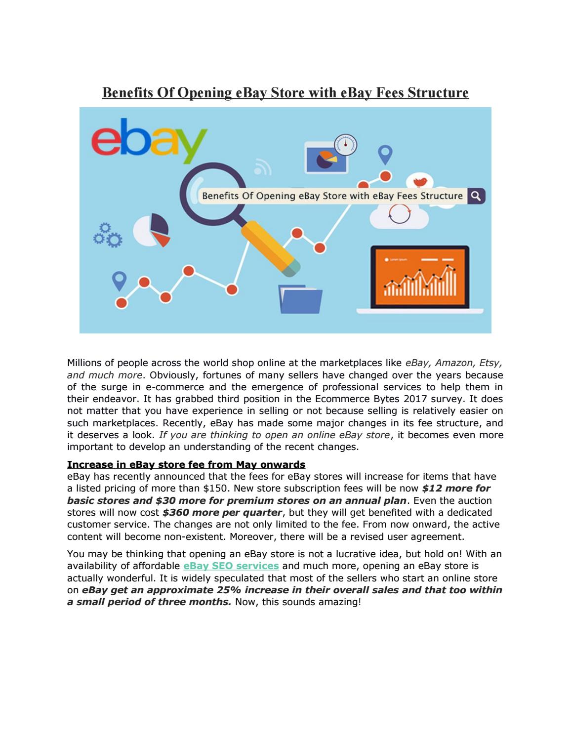 Benefits Of Opening Ebay Store With Ebay Fees Structure By Estore Factory Issuu