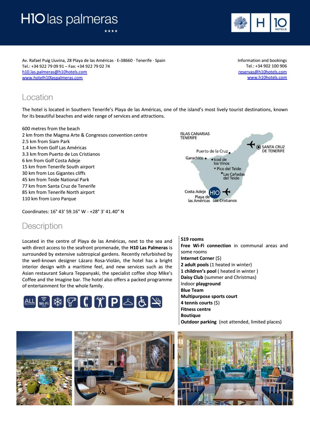 H10 Las Palmeras Our Rooms By H1o Hotels Meetings Events Issuu