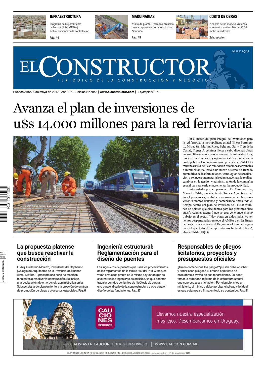 a851b8c5f El Constructor 8 5 2017 - N° 5058 Año 116 by ELCO Editores - issuu