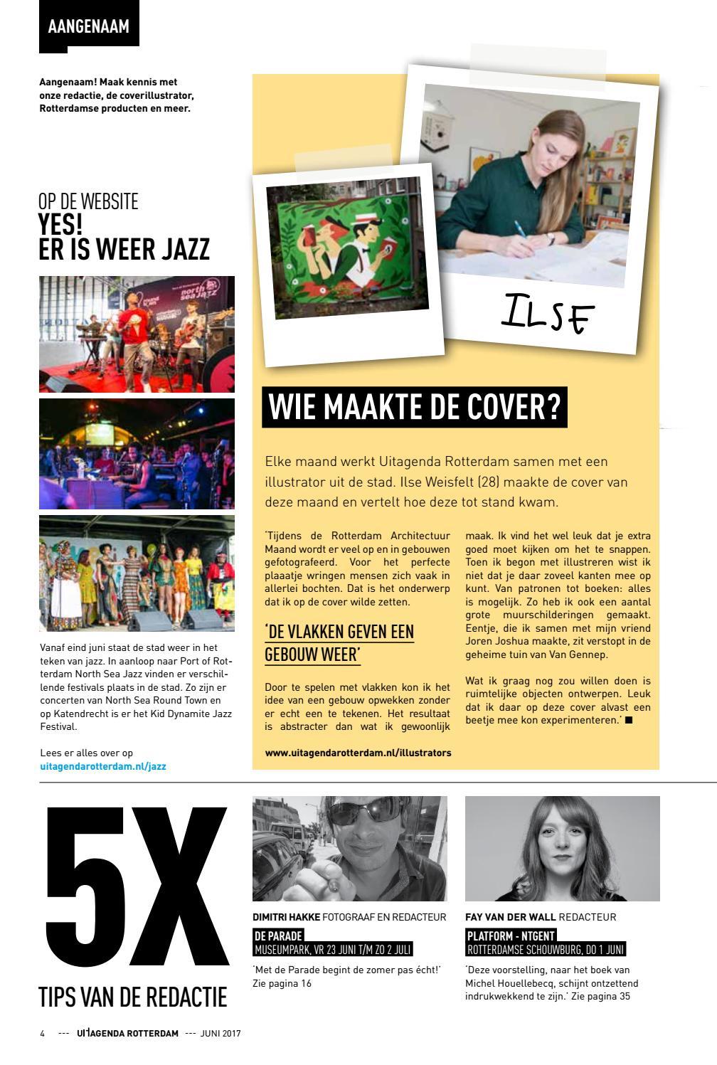Uitagenda magazine juni 2017 by rotterdam festivals issuu for Uit agenda rotterdam