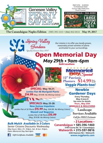 The Genesee Valley Penny Saver Canandaigua-Naples Edition 5/19/17 by