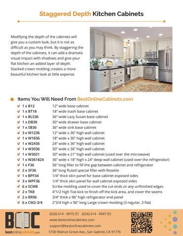 Design idea staggered depth kitchen cabinet by Matt Wu - issuu