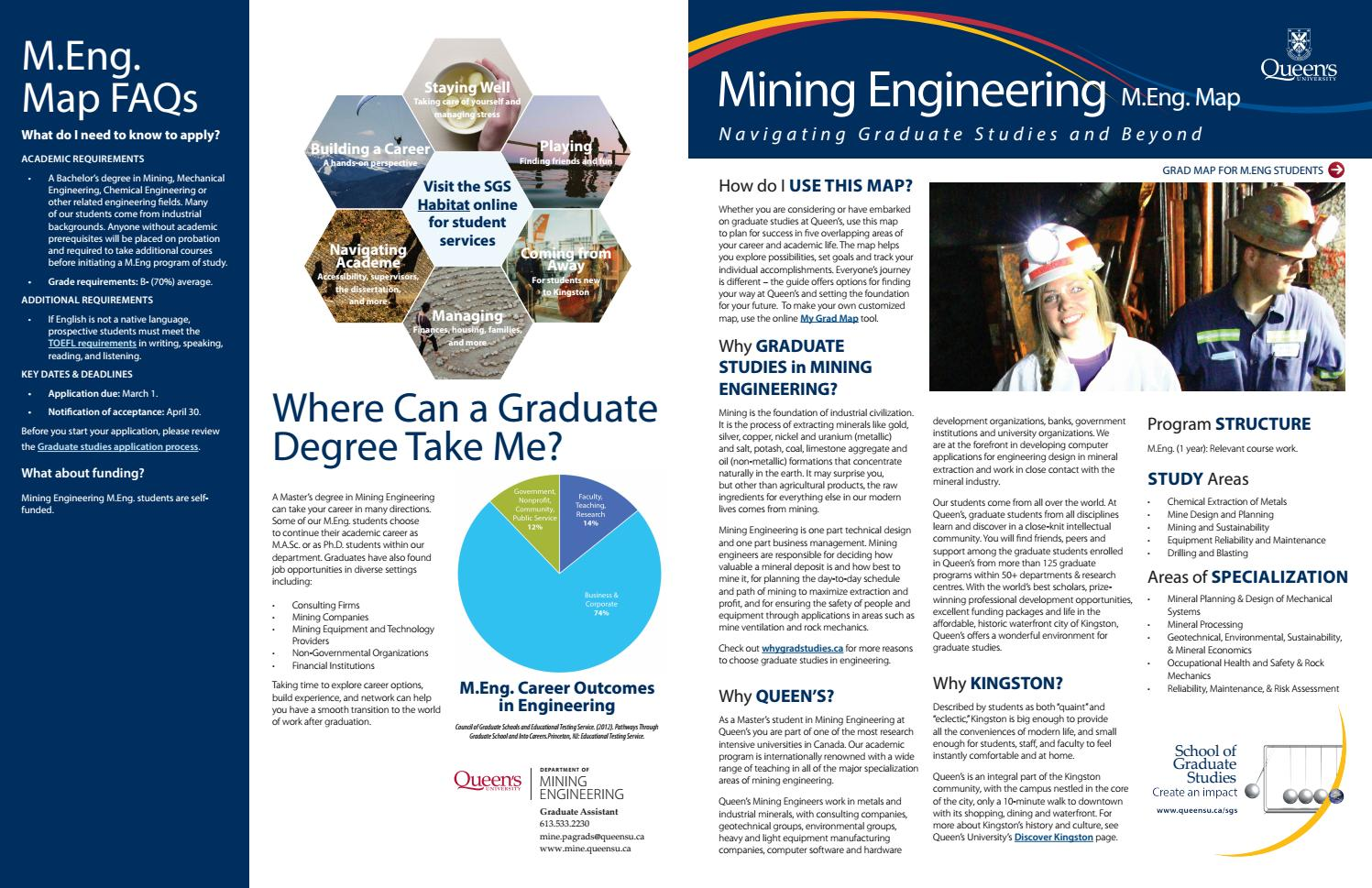 Mining engineering MEng web by Queen's Faculty of