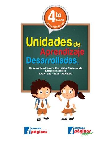 Libro 4to grado by EDITORA PÁGINAS - issuu