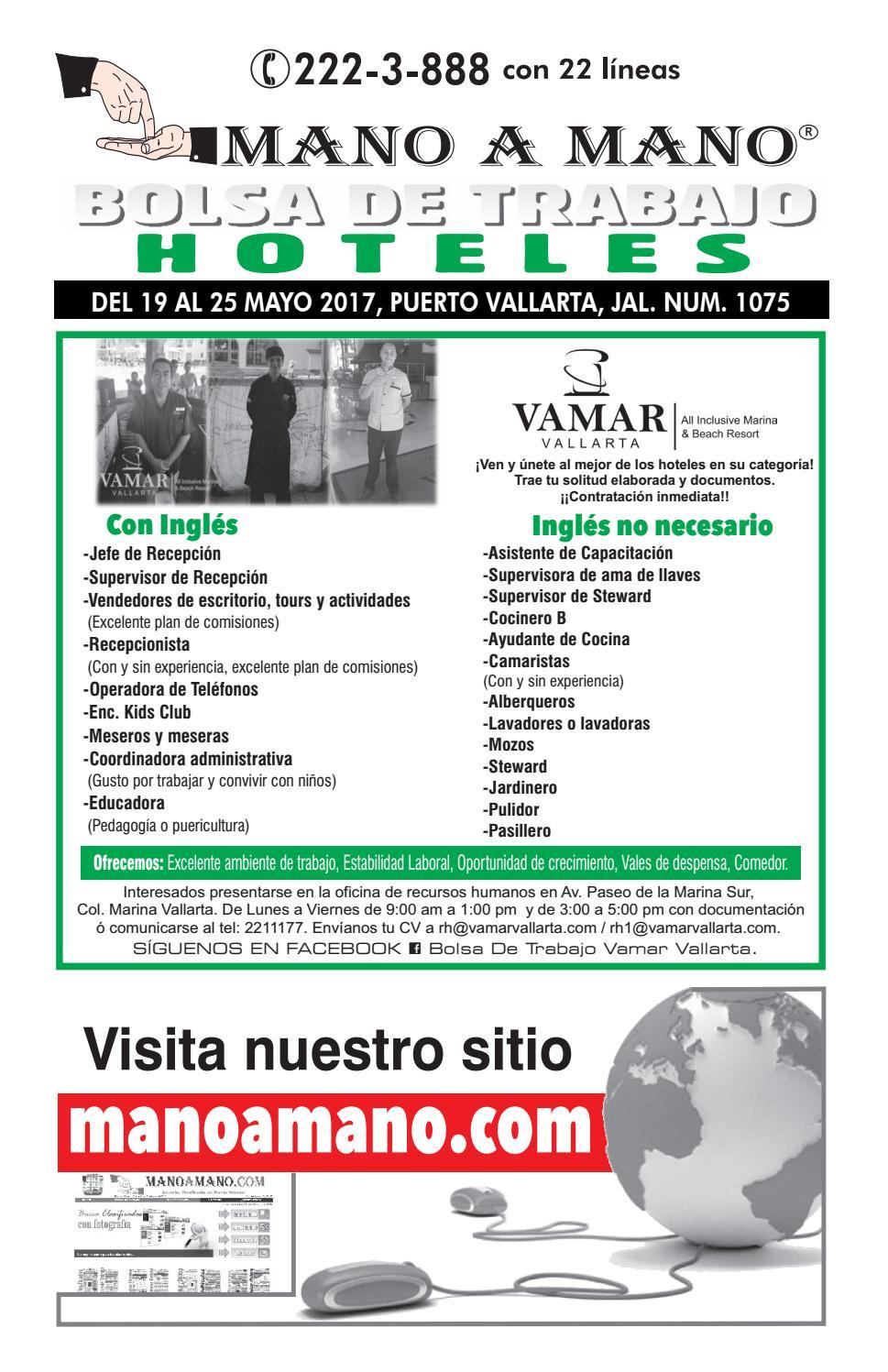 Bolsa trabajo hoteles 1075 by mano a mano issuu - Ofertas de ayudante de cocina ...