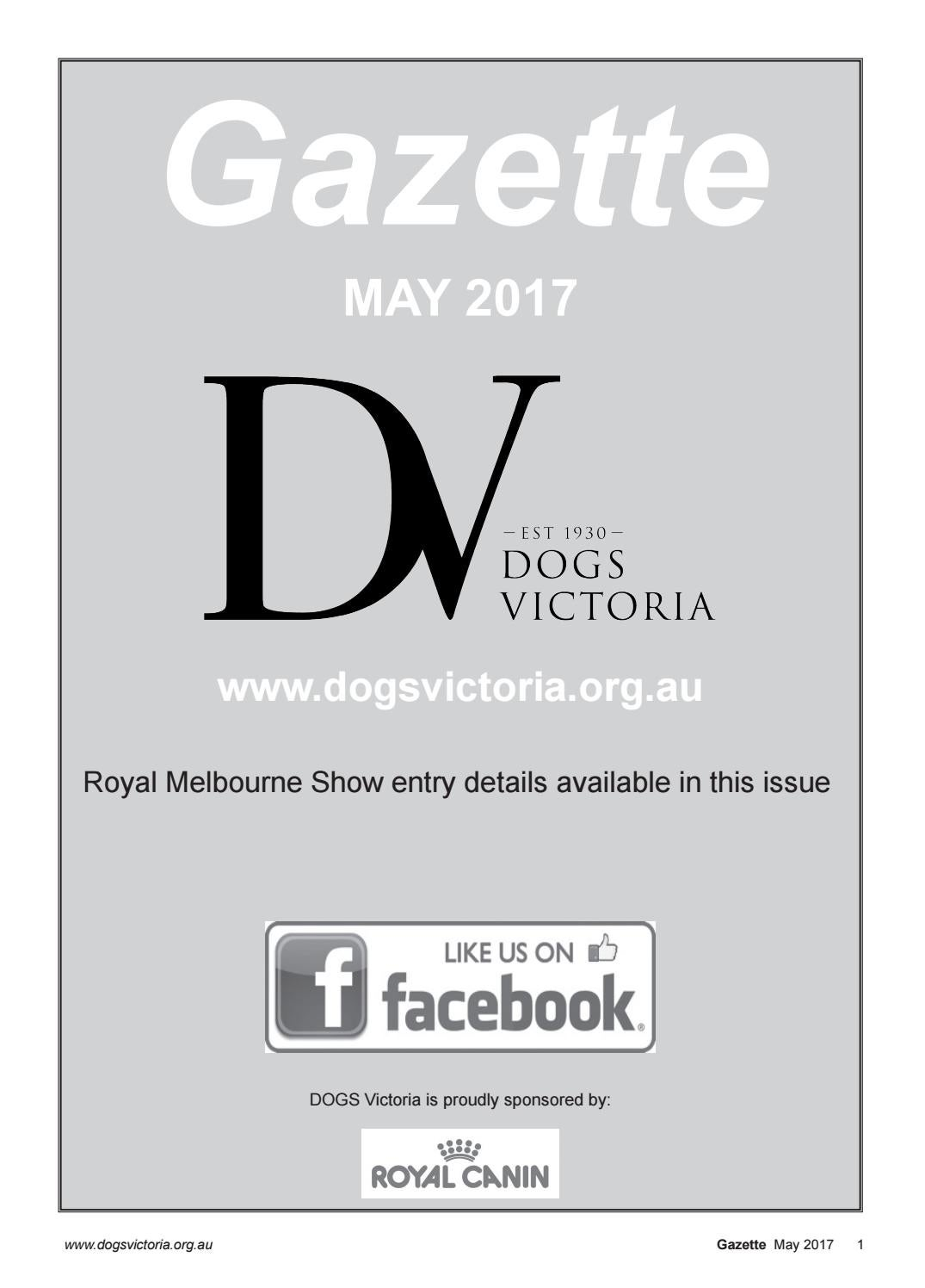 Dogs Victoria Gazette - May 2017 by Dogs Victoria - issuu