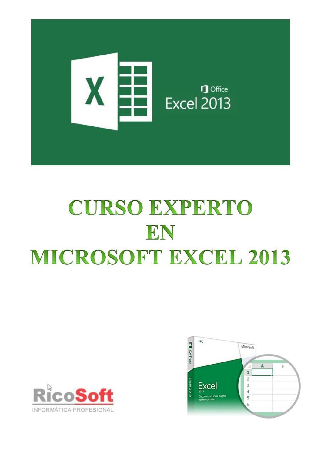 Curso experto microsoft excel 2013 by L. A. Estrada - issuu