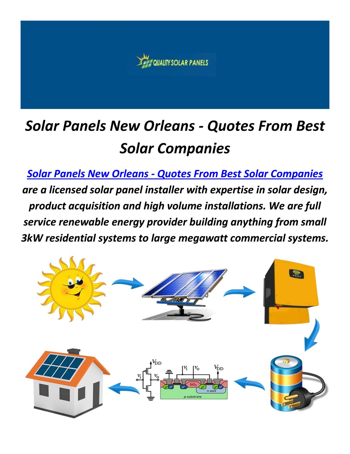 Best Solar Companies >> Solar Panels In New Orleans Quotes From Best Solar
