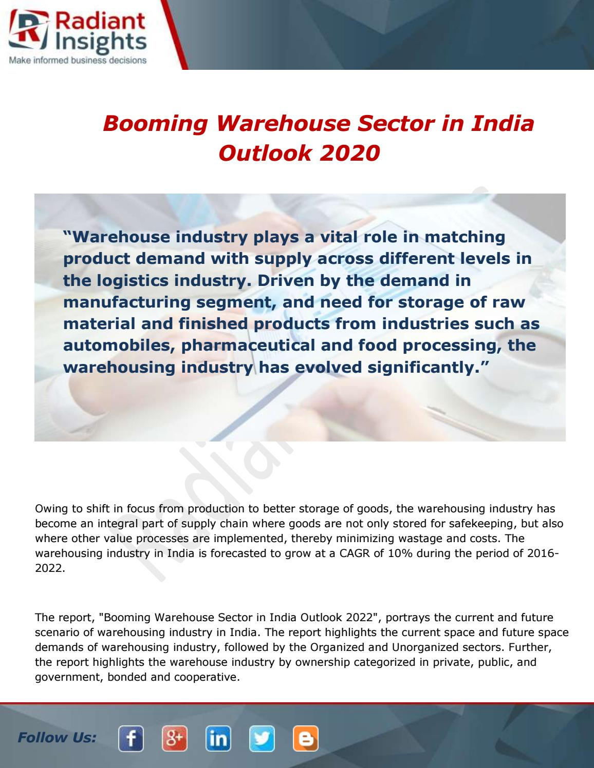 Booming Warehouse Sector in India Market Overview and Trends