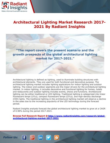 Architectural Lighting Market Research 20172021 By Radiant Insights  sc 1 st  Issuu & Architectural Lighting Market Research 2017-2021 By Radiant Insights ...