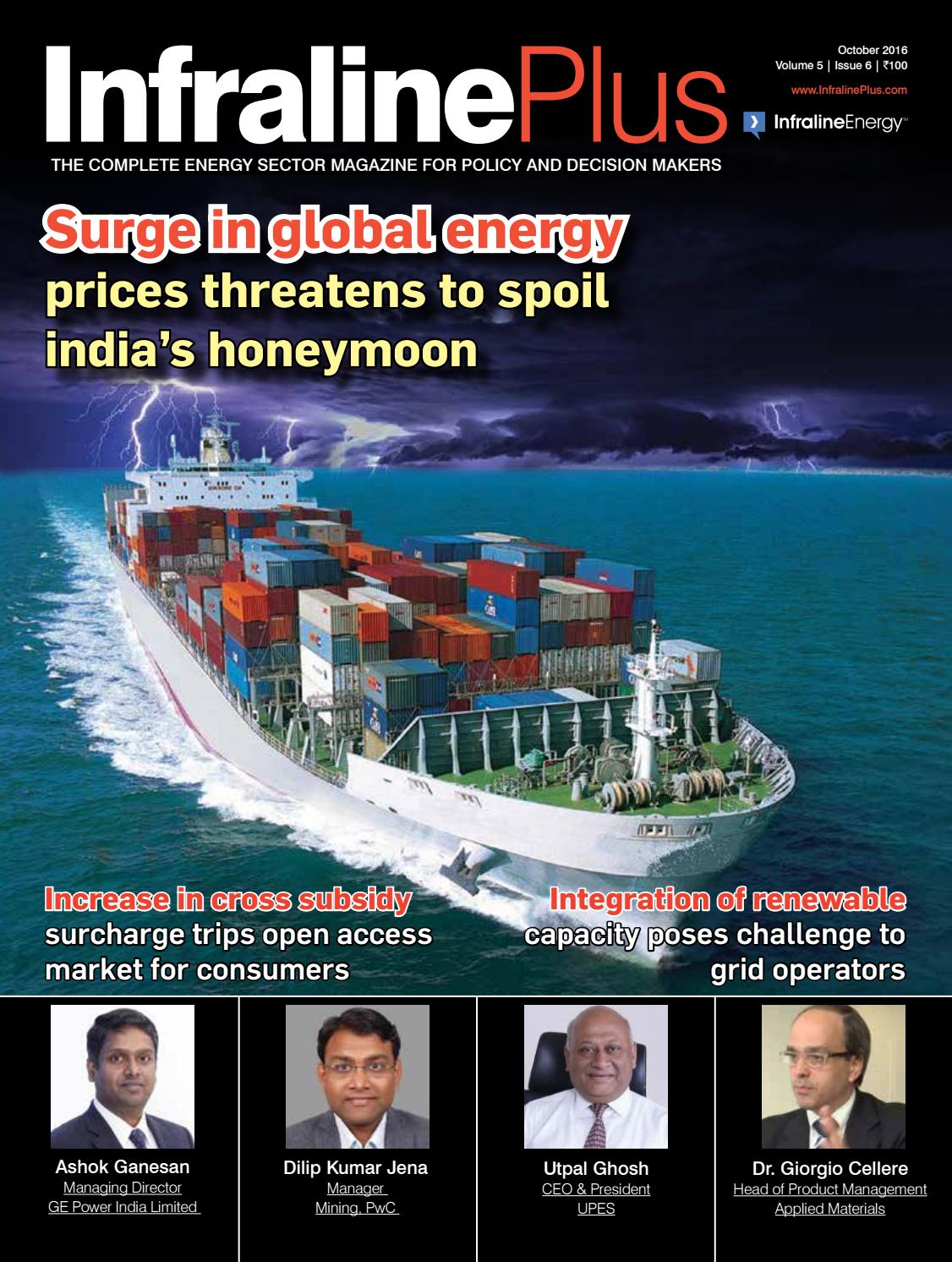 InfralinePlus October 2016 Edition by infralineenergynoida