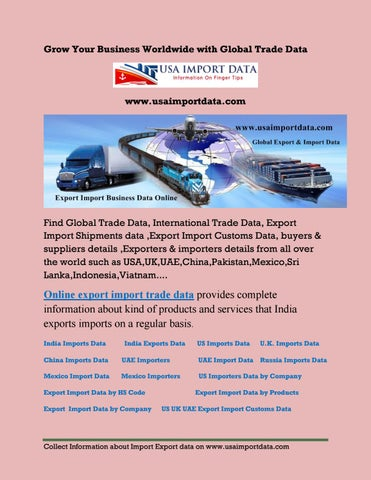 Daily update export import shipments data records from