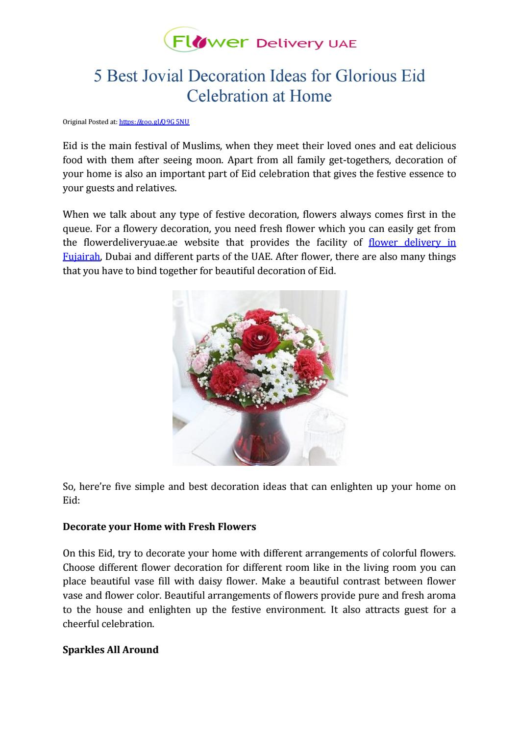 5 best jovial decoration ideas for glorious eid celebration at home 5 best jovial decoration ideas for glorious eid celebration at home by flower delivery uae issuu izmirmasajfo
