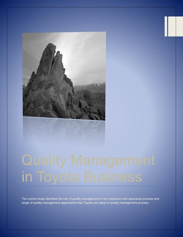 toyota and quality management