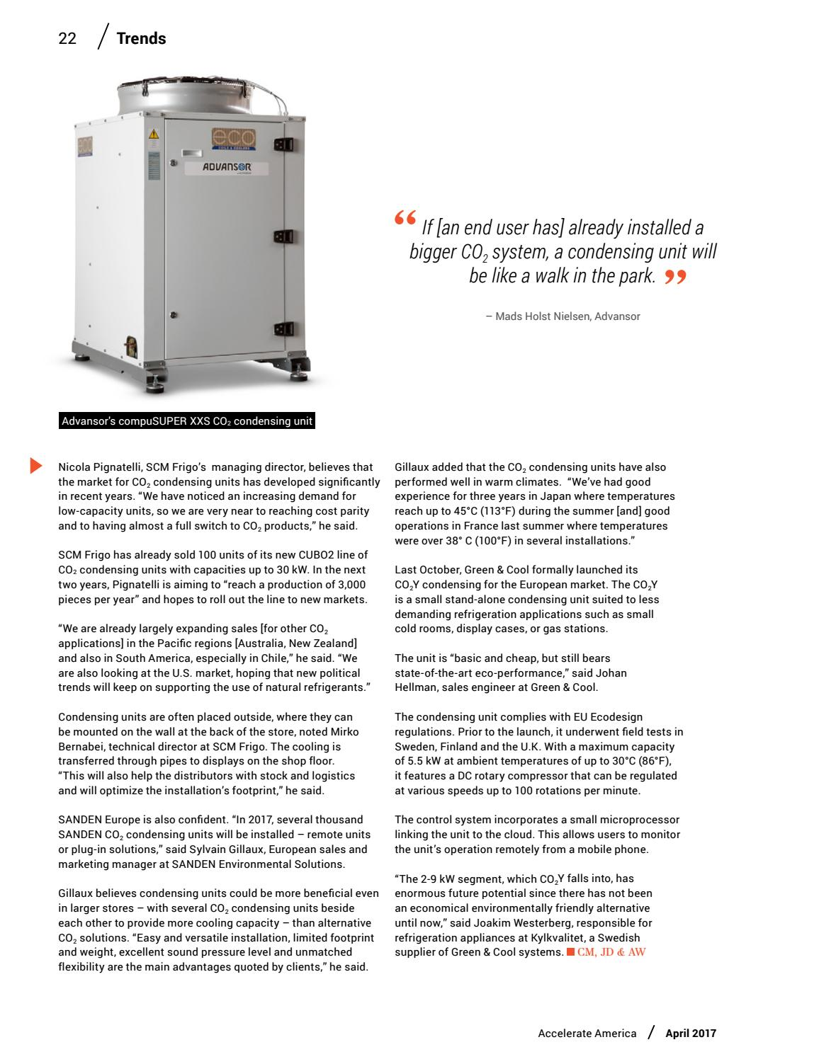 Accelerate America 24 April 2017 By Shecco Issuu Installation Condensing Unit And Refrigeration System