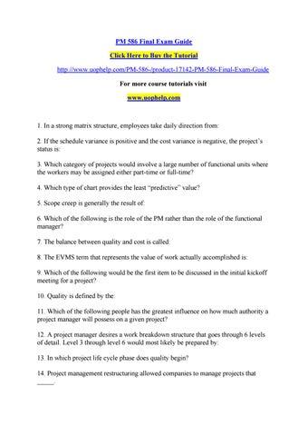 Pm 586 Final Exam Guide By Chotumotu4 Issuu
