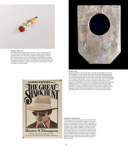 Page 57 of MEMENTOS: Artists' Souvenirs, Artefacts and Other Curiosities