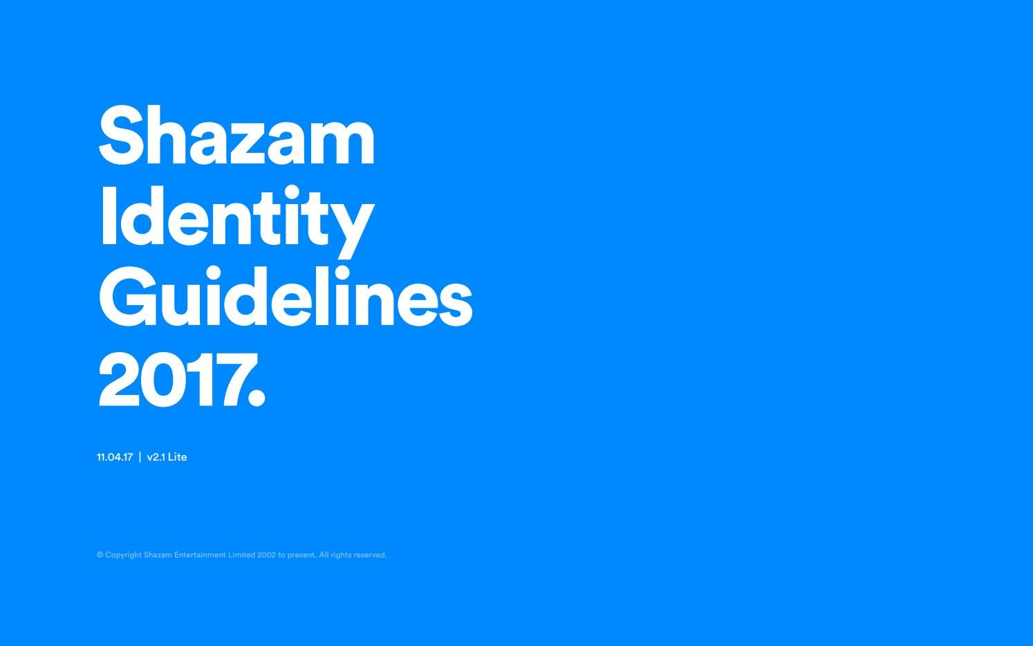 Shazam Brand and Identity Guidelines 2017 by Duncan Riley