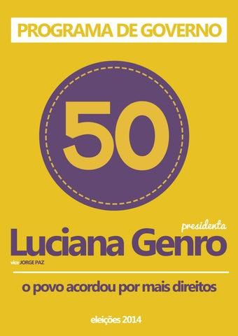 f36b9b1db30 Programa Presidencial de 2014 by Luciana Genro - issuu