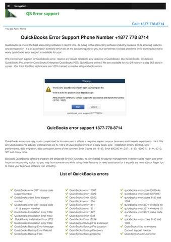 Quickbookserrorsupport Com By Quickbookserrorsupportphonenumber Issuu
